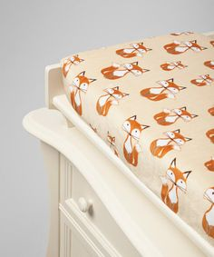 Look at this #zulilyfind! Beige Fox Minky Changing Pad Cover by Lolly Gags #zulilyfinds