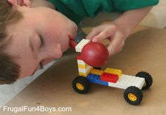 Lego Fun Friday: Balloon Powered Car Challenge Oh I'm so trying this year, with my class. They love legos!