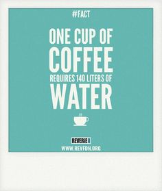A cup of coffee needs 140 liters of water fro preparation
