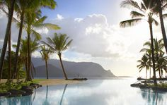 The St. Regis Princeville Resort, Kauai, this overlooks Hanalei Bay Marriott Hotels, Hotels And Resorts, Luxury Hotels, Kauai Hotels, Luxury Travel, St Regis Princeville, Hanalei Bay, Nashville Trip, Spa