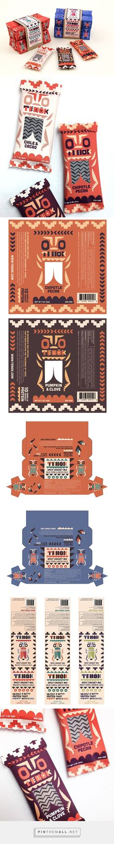 Tenok Cricket Snacks on Behance by Alexander Vidal curated by Packaging Diva PD. Yummy cricket (insect) snack packaging : )
