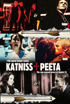 Hunger Games - Romeo + Juliet poster style!