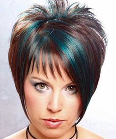 hair+color+trends+2014+short+hair | Awesome and Attractive Pixie Cut with Highlights of Turquoise