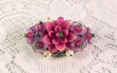 1950's Western Germany Pink Floral Brooch by TheGlamtasticAttic