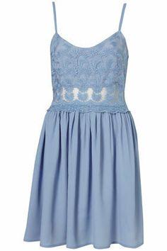 Lace Strappy Sundress - Dresses - Apparel - Topshop USA on Wanelo