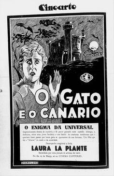 1927 - THE CAT AND THE CANARY - Paul Leni - (CINEARTE, March 7, 1928, Rio de Janeiro, Brazil)