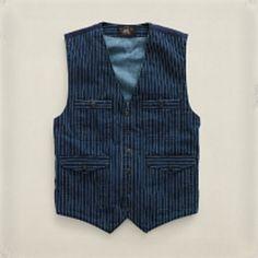 Striped RRL vest