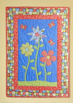 """Summer Blooms"" by Heidi Pridemore (from The Quilter June/July 2012 issue)"