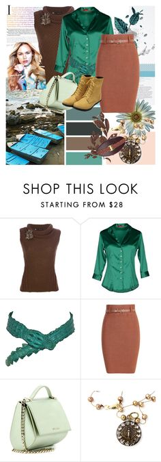 """teal-brown combo"" by irinavsl ❤ liked on Polyvore featuring Dsquared2, Altea, Roberto Cavalli, Givenchy and Mali Sabatasso"