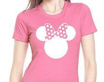 Minnie Mouse Shirt, Pink Minnie Shirt // Adult Disney Women's T-Shirt // Minnie Mouse Shirt // Mickey Shirt // Disney's Minnie Mouse