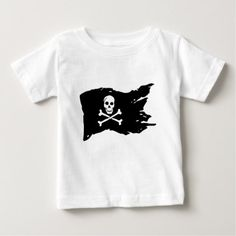 Pirate Flag Baby T-Shirt - cool gift idea unique present special diy