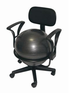 Aeromats Deluxe Fitness Ball Chair In Black Reviews Ladder