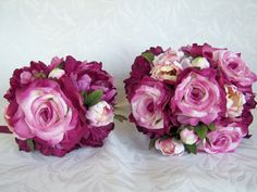 Wedding bouquets Dianna beauty rose by ChurchMouseCreations