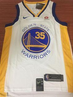 Men GSW 35 Kevin Durant Jersey White Golden State Warriors Fanatics c5259118d
