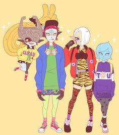 sunflowerkunoichi:  Heeeeey I drew some Hyrule Warriors in random outfits from Tokyo Fashion! v(≧∇≦*) Midna★ Zant★ Ghirahim★ Fi★ Impa★ Link★ Zelda★ Sheik★ Agitha★ Lana★ Cia