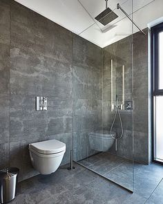 If you have a small bathroom in your home, don't be confuse to change to make it look larger. Not only small bathroom, but also the largest bathrooms have their problems and design flaws. Bathroom Glass Wall, Concrete Bathroom, Bathroom Renos, Bathroom Layout, Bathroom Ideas, Shower Ideas, Budget Bathroom, Concrete Walls, Shiplap Bathroom