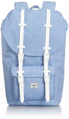 Herchel Little America 24L Backpack - Chambray Crosshatch/weiß Rubber: Amazon.de: Koffer, Rucksäcke & Taschen