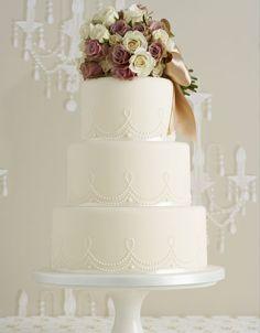 Vintage wedding cake.
