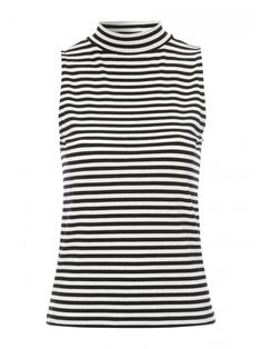 Women's Funnel Neck Striped Top | Peacocks