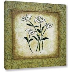 ArtWall Herb Dickinson Sophistica II Gallery-Wrapped Canvas, Size: 24 x 24, White