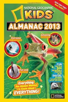 National Geographic Kids Almanac 2013 by National Geographic Kids, http://www.amazon.com/dp/1426309244/ref=cm_sw_r_pi_dp_RjBIrb031QA2P - $7.77