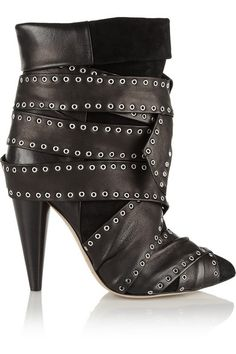 Isabel Marant Aleen Belted Leather & Suede Ankle Boots, also at Bergdorf
