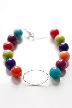 Boost of colour bracelet by Smyckorama from Sweden