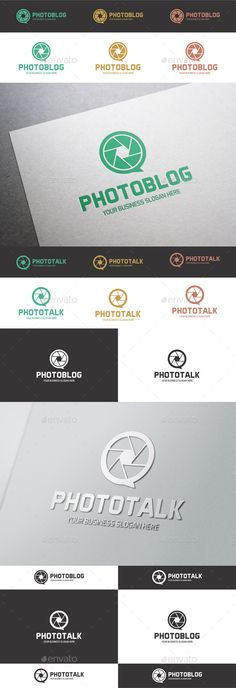 Photo Talk / Photo Blog Logo ¨C Photo Chat Logo Template ¨C Excellent logo in vector format for social network, chat for photographe