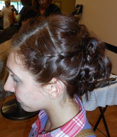 Prom home coming bridesmaid hair by Rochelle Noone