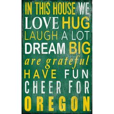Oregon Ducks In This House Wall Art, Multicolor