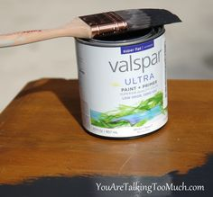 This is a $12.98 solution for expensive chalk paint. Super Flat Matte Primer & Paint