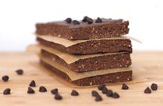 Sugar free: Chocolate peanut butter fudge brownie protein bars