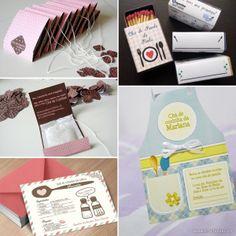 inspirações e ideias de decoração para chá de panela chá de cozinha 6 - convites