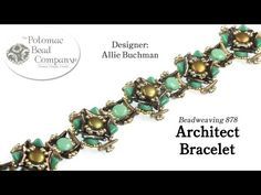 "This video tutorial from The Potomac Bead Company teaches you how to make Allie Buchman's ""Architect Bracelet"" design. Find a list of supplies used in the br..."
