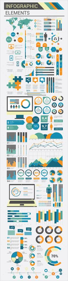 Infographic Flat Elements Template Vector EPS, AI. Download here: http://graphicriver.net/item/infographic-flat-elements/14953021?ref=ksioks