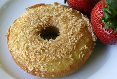 Honey-dipped toasted coconut donut