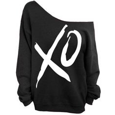 XO - Valentine's Day - Black Slouchy Oversized Sweatshirt ($22) ❤ liked on Polyvore featuring tops, hoodies, sweatshirts, shirts, sweaters, jackets, black sweatshirt, slouchy oversized sweatshirt, sweat shirts and shirts & tops