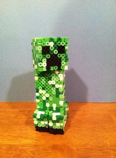 3D Minecraft Creeper perler beads by dorkking12 on deviantART