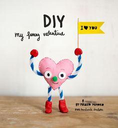 DIY Valentines Card Pipe Cleaner People
