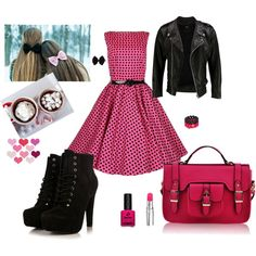 In pink& black