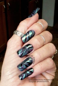 Sinful Colors Black on Black, Color Club Halo Hues Eternal Beauty,  Too Cute-icle Enchanted Lagoon, water marble