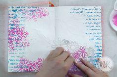mixed media art journal by Nathalie Keur via Marjie Kemper's Tuesday's Tutorials Weekly Blog Series, Week 34