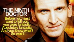 Eccleston doesn't get enough credit for the very wonderful ninth doctor. I miss him.