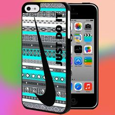 NIKE JUST DO IT AZTEC BLUE For iPhone and samsung galaxy case hard plastic