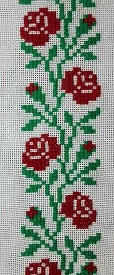 Simple Cross Stitch, Cross Stitch Flowers, Crochet Doily Patterns, Crochet Doilies, Cross Stitch Animals, Bargello, Cross Stitching, Diy And Crafts, Projects To Try