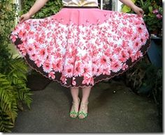 Clothing? Crafting?  can't decided but making a skirt out of a vintage round tablecloth is an ingenious upcycling project
