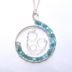 Waterbirth Babe- Wire Abstract Pendant, Home Water Birth, Midwife, Mother, Doula, Baby. $40.00, via Etsy.
