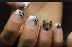 French cheetah nails