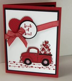 loads of love Valentine truck card