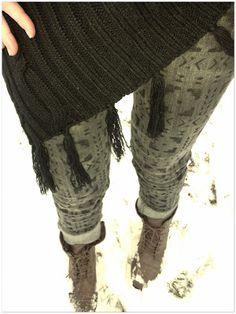 Tuesday's Treasure | Pure Jane | DIY aztec tribal print jeans + combat boots + fringe shawl